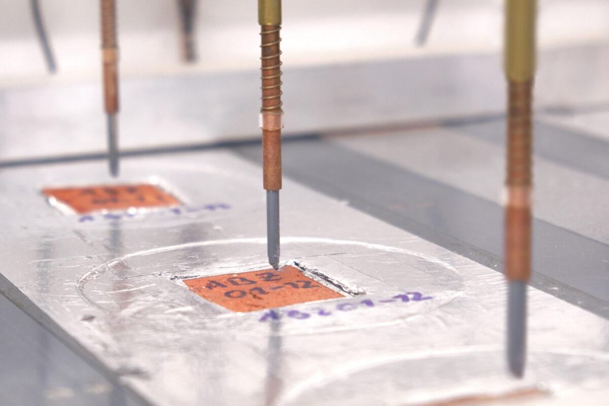 Baustofflabor Messung Ziegel